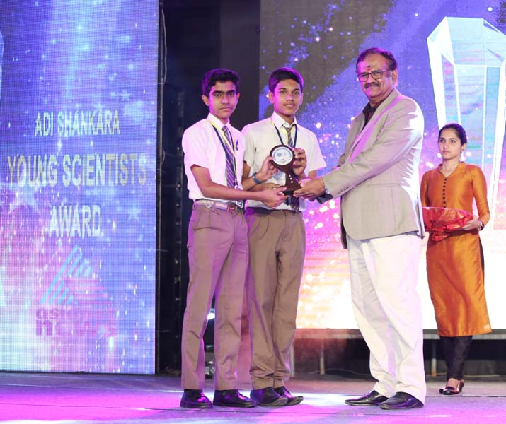 to Lathika miss - adi shankara young scientist award by thomas